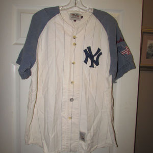 NEW YORK YANKEES Cooperstown Shirt Large NY MLB